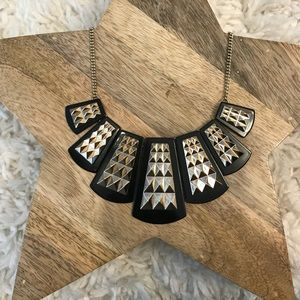 Black and Gold Studded fashion Necklace